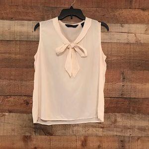 Preston & York tie neck blouse